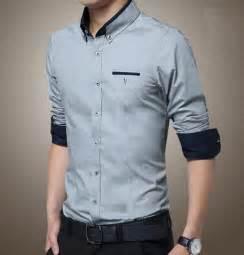 2015 Long Sleeve Casual Shirts Men