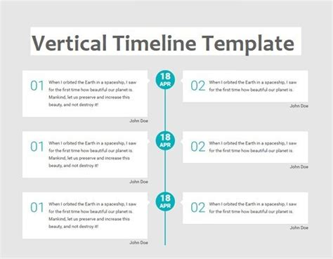 vertical timeline template   printable  excel