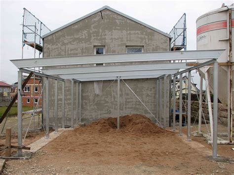 Carport  Stahlkonstruktion Fertig Baublog