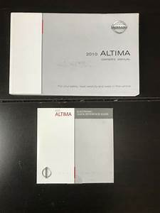 2010 Nissan Altima Owners Manual Oem Free Shipping
