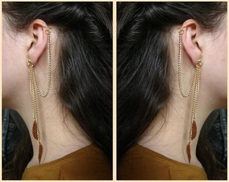 diy ear cuffs  long chain ear cuff nbeads