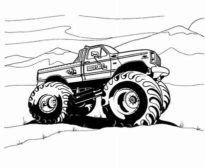 Monster Coloring Truck Pages Trucks Printable Boys