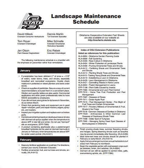 maintenance schedule template   word excel