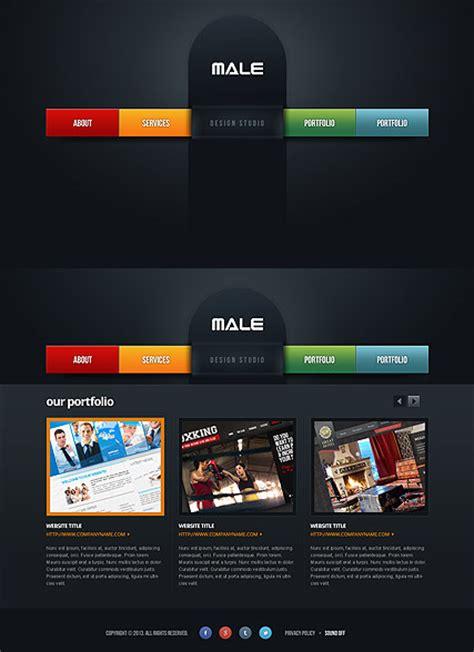 male design studio html template