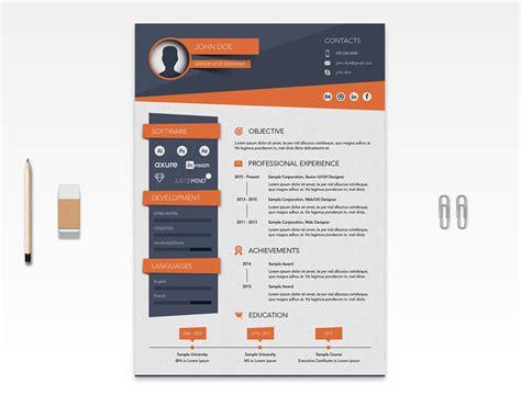 creative resume cv design template ai file good resume