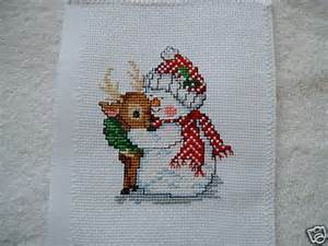 Christmas Snowman Cross Stitch