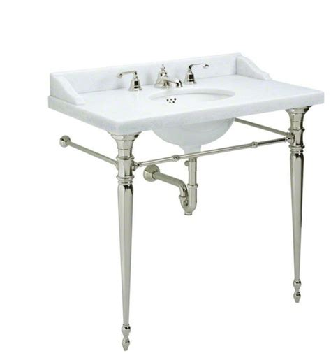 console sink with chrome legs kallista chrome for country by michael s smith console