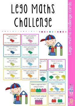 lego maths challenge cards  top teacher teachers pay
