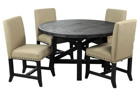 living spaces kitchen tables jaxon 5 piece round dining set w upholstered chairs