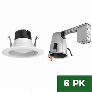 4 in led remodel recessed lighting kit : Envirolite in led recessed remodel housing with