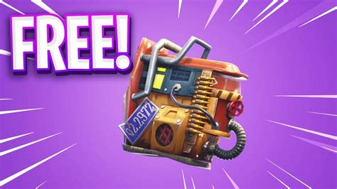 How To Get Free New Back Bling In Fortnite Youtube