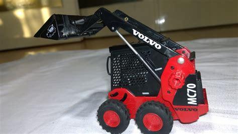 volvo skid steer loader mini excavator  cool toy volvo mc kompaktlader minilastarehd