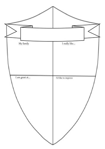 Shield Template Transition Shield Template By Tim Caird Teaching