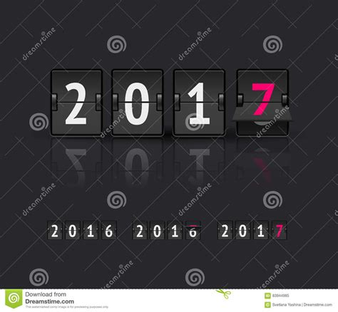 New Year Concept Flip Board At Different States Changes