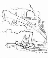 Ship Coloring Cruise Titanic Boats Boat Ocean Drawing Outline Ships Liner Fishing Tug Sheets Printable Colouring Dock Different Types Popular sketch template