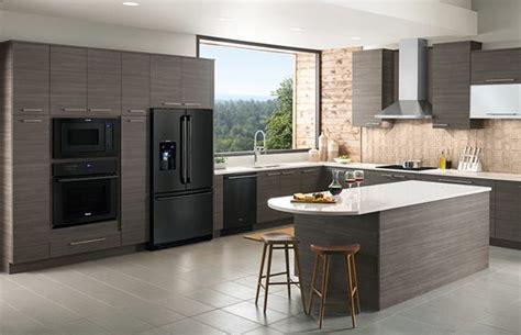black    stainless black kitchen appliances