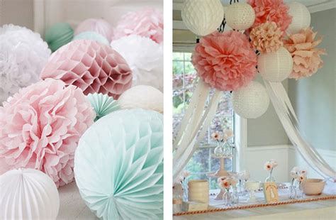 paper pom poms wedding diy hanging wedding decorations