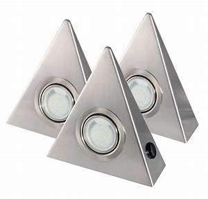 Led Dreieckleuchten Unterbauleuchten Küchenleuchten : 3er set led unterbauleuchte dreieck edelstahl 3x2 5w mit zentralschalter ebay ~ Bigdaddyawards.com Haus und Dekorationen