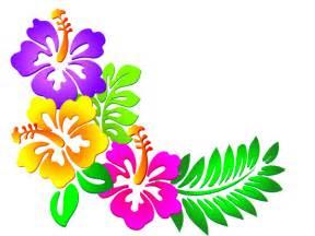 Hibiscus Flower Corner Clip Art