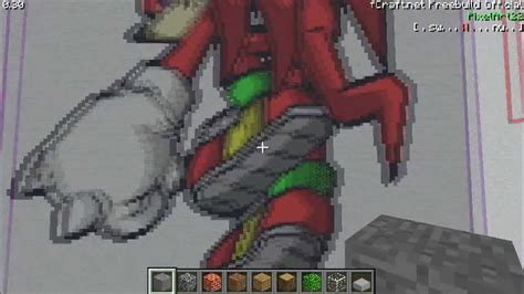knuckles minecraft pixel art youtube