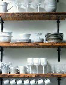 Reclaimed Wood Shelves with Metal Bracket