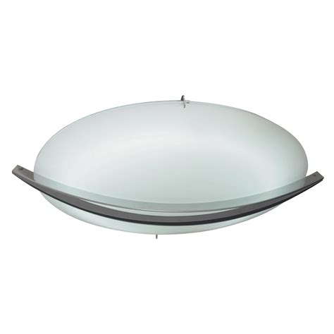 plc 21015 sn enzo modern satin nickel 12 5 quot flush mount