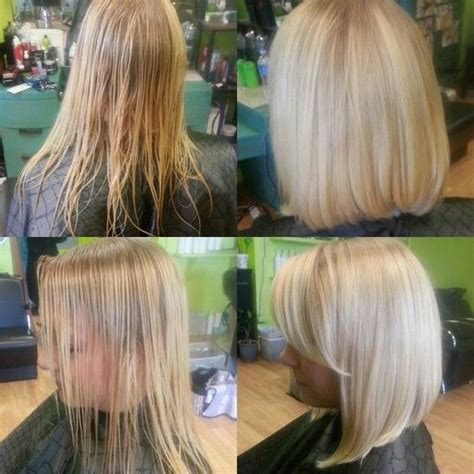 long angle bob  side bangs christine ehmann beauty