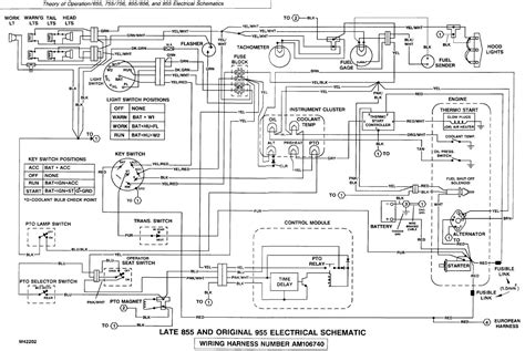 deere ignition switch wiring diagram tractor parts