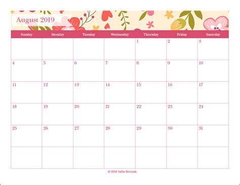 printable monthly calendars sallieborrinkcom