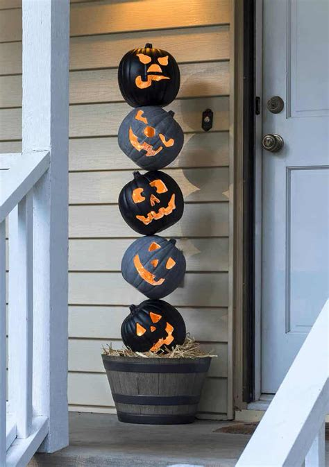 front porch outdoor halloween decorating ideas  garden glove
