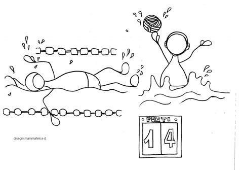 il disegno per i bambini disegni da colorare per bambini nuoto e pallanuoto