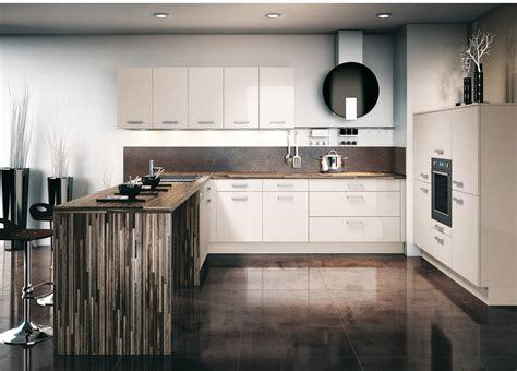 cuisine avec plan de travail en bois cuisine brillante avec un plan de travail en bois photo 7 12 la façade de cuisine est