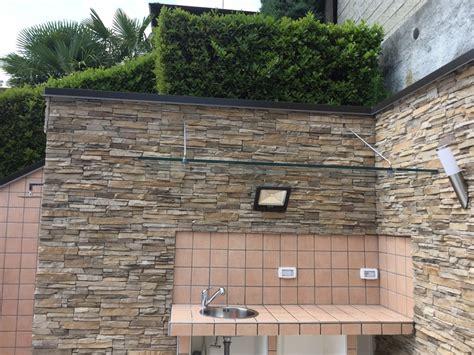 cucina in muratura esterna foto realizzazione cucina esterna in muratura e tettoia