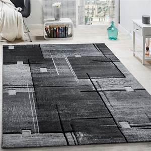 Teppich Grau Schwarz : designer teppich konturenschnitt abstrakt karo linien grau schwarz meliert wohn und ~ Markanthonyermac.com Haus und Dekorationen