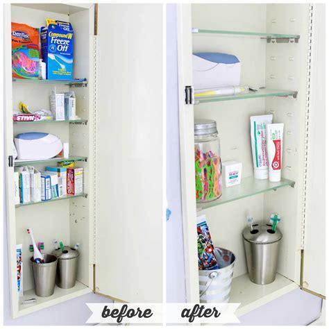 Cabinet Organizers Bathroom by High Low Bathroom Cabinet Organization Abby Lawson