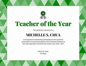 Teacher of the year award certificate templates by canva for Teacher of the year certificate