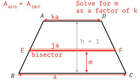 Diagram Of Trapezoid by Algebra Precalculus How To Bisect An Isosceles Trapezoid