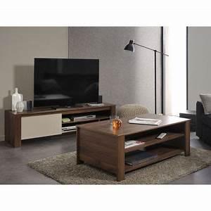 Ensemble Meuble Tv Et Table Basse : alessio ensemble table basse meuble tv d ~ Teatrodelosmanantiales.com Idées de Décoration