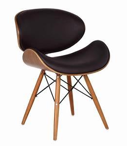 Chaise De Bureau Bois : chaise de bureau style eames dsw simili cuir marron ~ Teatrodelosmanantiales.com Idées de Décoration