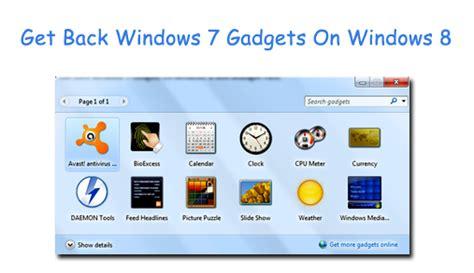 gadgets bureau windows 8 get back windows 7 gadgets on windows 8 with 8gadgetpack