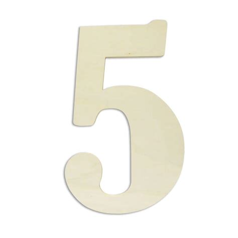 wooden numbers home depot jeff mcwilliams designs 18 in oversized unfinished wood number quot 5 quot 300424 the home depot