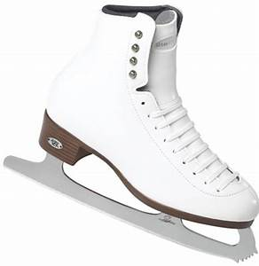 Girls' Riedell 33 White Wide Figure Skates with Astra Blades