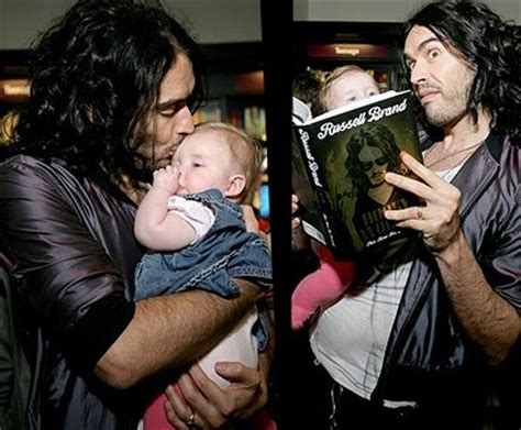 russell brand bristol russell brand kisses a baby at book signing in bristol