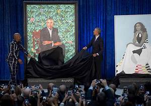 Obama portraits unveiled at National Portrait Gallery ...