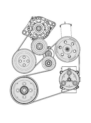 Need Diagram Replace Serpentine Belt Ford Taurus