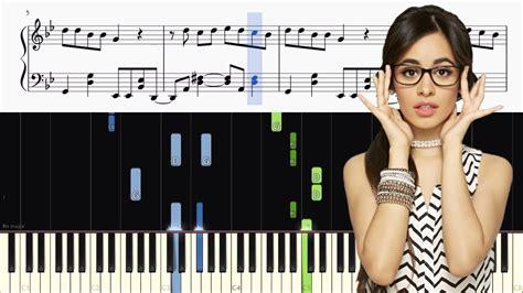 Camila Cabello Havana Piano Tutorial Sheets Youtube