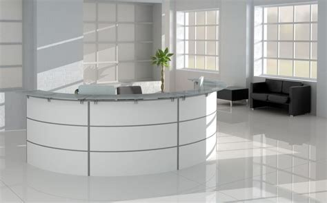 black and white reception office furniture modern office