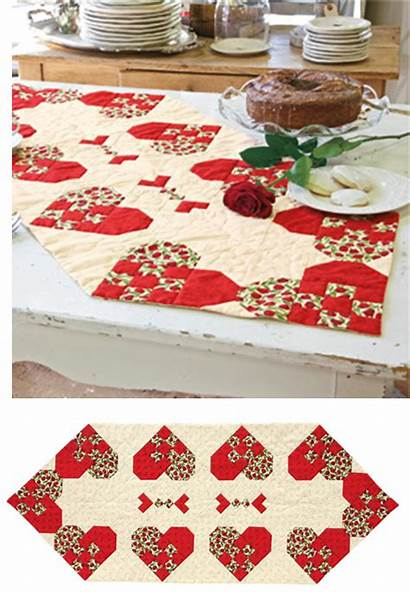 Quilts Pattern Heart Quilt Placemats Runner Quilted