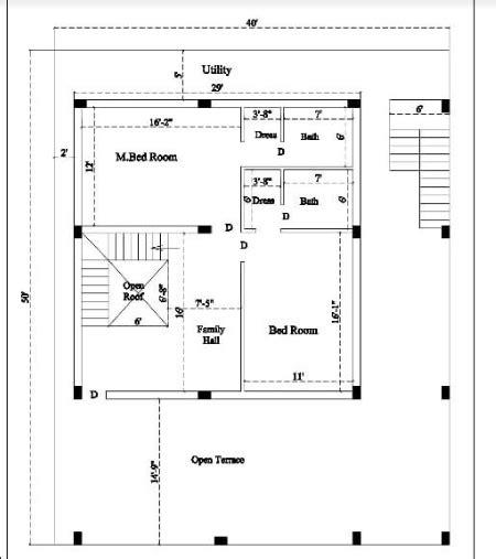 sq ft house floor plan acha homes