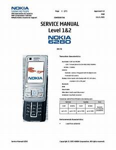 Service Manual   Nokia 6280 6280 Part1 Rar  Service Manual